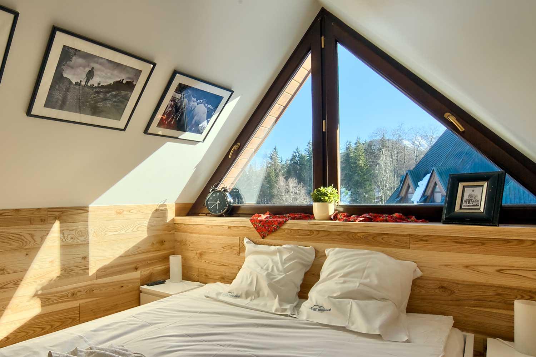 Małżeńska sypialnia z widokiem na Tatry